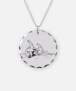 """Happy Feet"" Leonberger Dog Necklace"