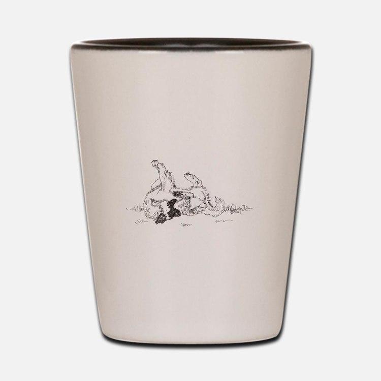 """Happy Feet"" Leonberger Dog Shot Glass"