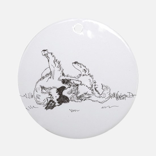 """Happy Feet"" Leonberger Dog Ornament (Round)"