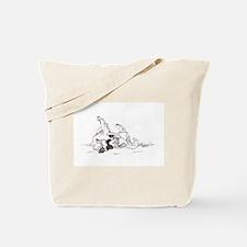 """Happy Feet"" Leonberger Dog Tote Bag"