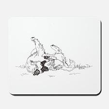 """Happy Feet"" Leonberger Dog Mousepad"