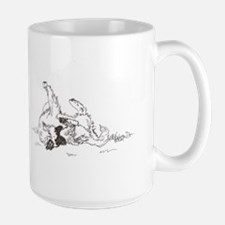 """Happy Feet"" Leonberger Dog Large Mug"