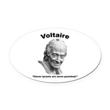 Voltaire Tyrants Oval Car Magnet