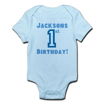 Personalized First Birthday De Baby Light Bodysuit T Shirt 1 Year Old