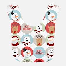 Merry Christmas Circles Bib