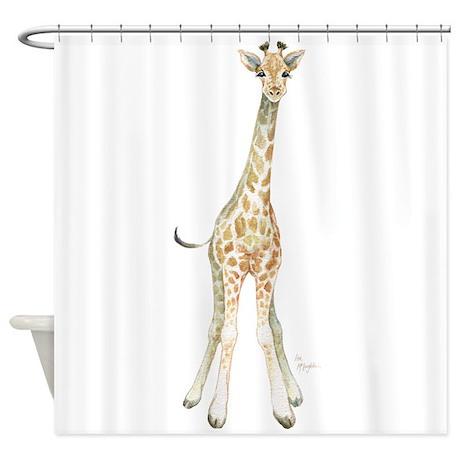Cute Giraffe Shower Curtain