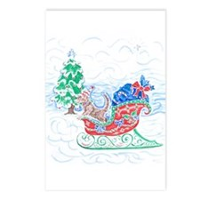 Happy Sleighbell Holidays Postcards (Package of 8)
