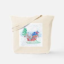 Happy Sleighbell Holidays by M. Nicole va Tote Bag
