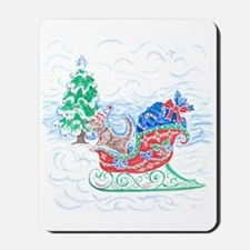 Happy Sleighbell Holidays by M. Nicole v Mousepad