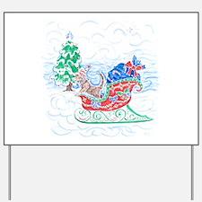 Happy Sleighbell Holidays by M. Nicole v Yard Sign