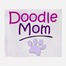 Doodle Mom Throw Blanket