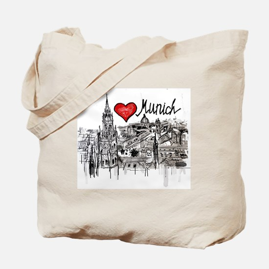 Cute I love germany Tote Bag