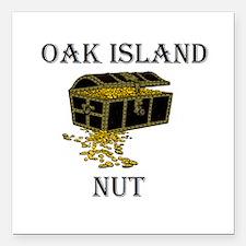 "Oak Island Nut Square Car Magnet 3"" X 3"""