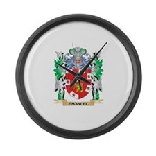 Emanuel Coat of Arms (Family Cres Large Wall Clock