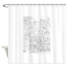 Daphne the Hummingbird Shower Curtain