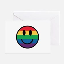 Rainbow Smiley Face Greeting Cards