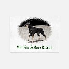 Min Pins & More Rescue 5'x7'Area Rug