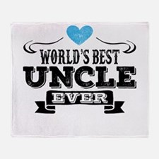 World's Best Uncle Ever Throw Blanket