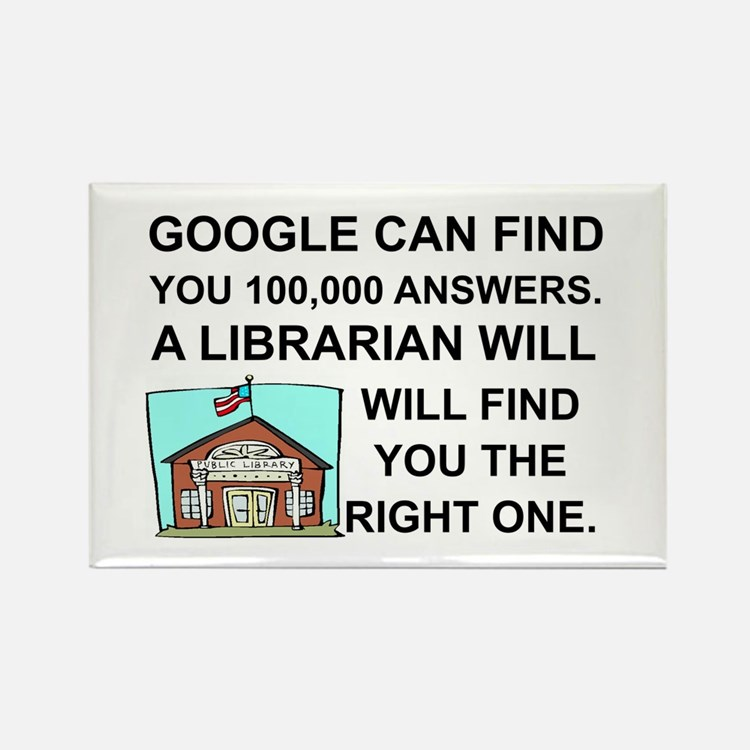 Cute Librarian Rectangle Magnet (10 pack)
