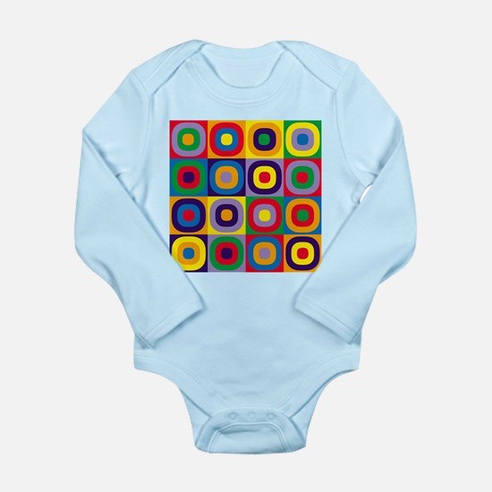 Squares and Circles Abstract Body Suit
