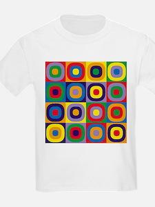 Squares and Circles Abstract T-Shirt