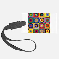 Squares and Circles Abstract Luggage Tag