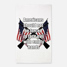 Armed Americans Area Rug