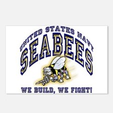US Navy Seabees Blue and Gold.png Postcards (Packa