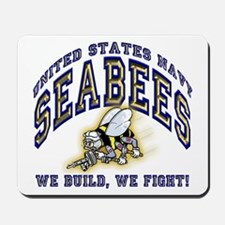 US Navy Seabees Blue and Gold.png Mousepad