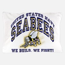 US Navy Seabees Blue and Gold.png Pillow Case