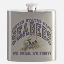 US Navy Seabees Blue and Gold.png Flask