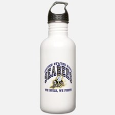 US Navy Seabees Blue and Gold.png Water Bottle