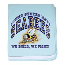 US Navy Seabees Blue and Gold.png baby blanket