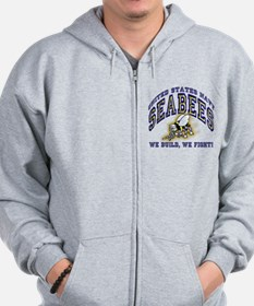 US Navy Seabees Blue and Gold.png Zip Hoody