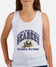 US Navy Seabees Blue and Gold.png Tank Top