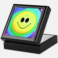 Smiley Face Rainbow Pattern Keepsake Box