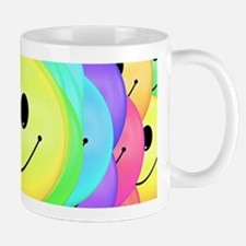 Smiley Face Rainbow Pattern Mugs