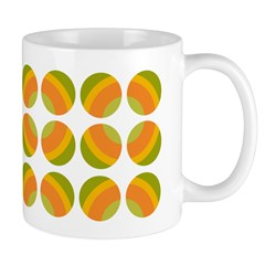 Mod Polka Dot Retro Ceramic Coffee Mug