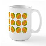 Mod Polka Dot Retro Large Mug (15 oz)