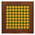 Mod Polka Dot Retro Framed Tile