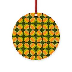 Mod Polka Dot Retro Ornament (Round)