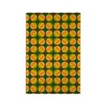 Mod Polka Dot Retro Rectangle Magnet (100 pack)