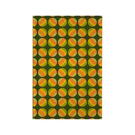Mod Polka Dot Retro Rectangle Magnet (100 pack)