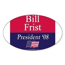 """""""Bill Frist for President"""" Oval Decal"""