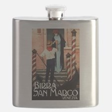 Vintage Italiano Birra Advertisement Flask