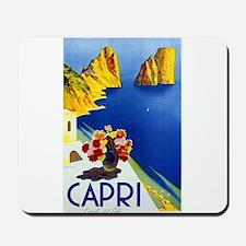 Vinatge Capri Tourism Poster Mousepad