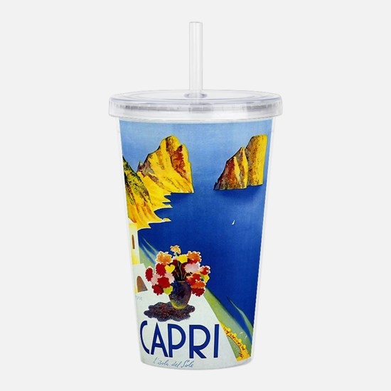Vinatge Capri Tourism Poster Acrylic Double-wall T