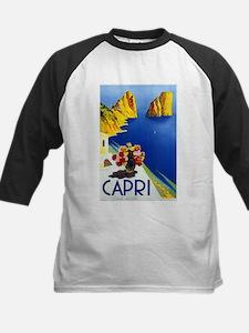 Vinatge Capri Tourism Poster Baseball Jersey