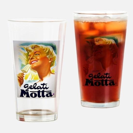 Vintage Italian Gelato Advertisement Drinking Glas