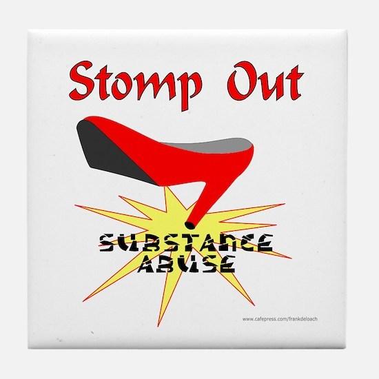 SUBSTANCE ABUSE AWARENESS Tile Coaster